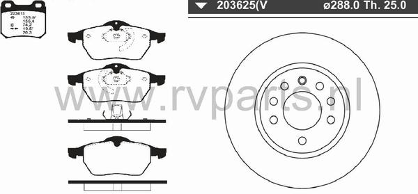 Vooras Opel Vectra 5 gaats 223613+203625