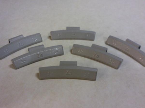 100 x 30 gram slagzink voor lichtmetalen velgen