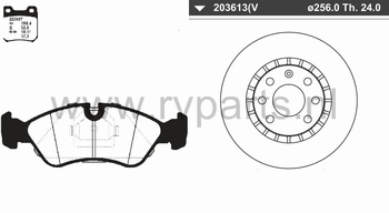Vooras Opel Vectra 4 gaats 223607+203613