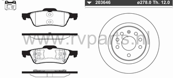 Achteras Opel Vectra C (massief)  223629+203646