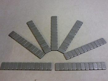 Plakzink 100x60 gram gecoat 4mm hoog en 19 mm breed