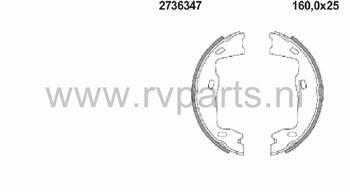 Remschoen set achteras handrem Vectra 2736347