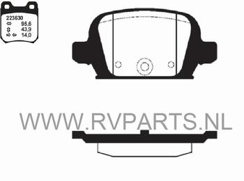 Remblokset vooras Opel Corsa C 1,7 CDTI 16V