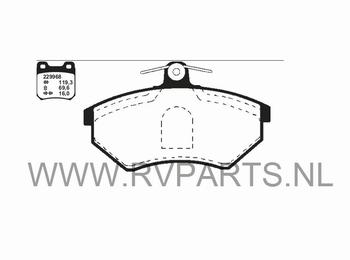 Remblokken vooras VW Polo 6N2 bj'99-01